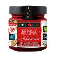 Pure and Good - Ketchup pikantny z ksylitolem 200g