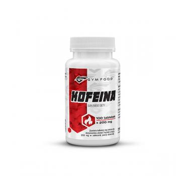 Kofeina Gym Food 200mg 100 tabl